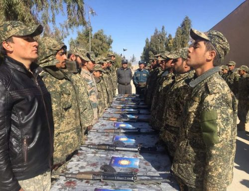 40 guards of Kandahar public protection zone dispatched to their detachments after military training