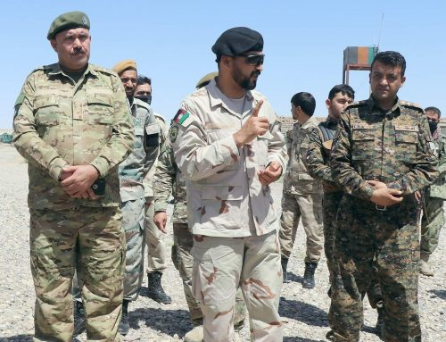 Colonel Mohammad Ayoob Wardak acting of protection and security convoys of the NPPF  closely checked the securing of foreign forces and traders' supporting convoys in Herat-Farah highways